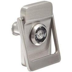 "$52 sears. Rockwood 614V.15 Brass Door Knocker with Door Viewer 2-1/8"" Width x 3"" Height Satin Nickel Plated Clear Coated Finish"
