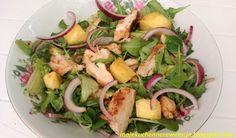 Moje                                                                       Kuchenne Rewelacje  : Sałatka z grillowanym ananasem i kurczakiem
