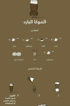 موكا بارد Coffee Drink Recipes, Starbucks Recipes, Coffee Drinks, Sweets Recipes, Cooking Recipes, Cute Food, Yummy Food, Arabian Food, Cookout Food