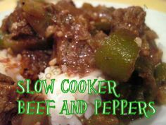 SLOW COOKER BEEF AND PEPPERS/MOORE OR LESS COOKING