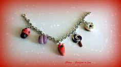 Bracciale in fimo handmade con dolcetti : Braccialetti di chiara-creazioni-in-fimo