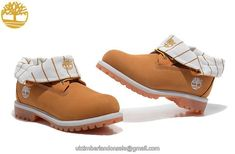 timberland roll top wheat for women with white ledge Knee High Timberland Boots, Timberland Nellie Boots, Timberland Roll Top Boots, Timberland Earthkeepers Boots, Timberland Boots For Sale, Timberland Boots Outfit, Timberland Waterproof Boots, White Timberlands, Timberland Classic
