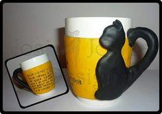 Personalised Poem Mug - polymer clay
