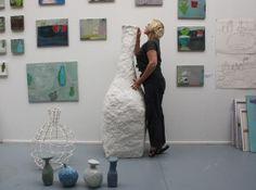 Petra Talsma in haar atelier