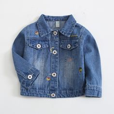 Victory! Check out my new Stylish Embroidered Rainbow Denim Jacket in Blue for Baby Girl, snagged at a crazy discounted price with the PatPat app.