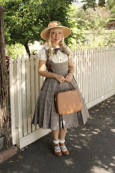 """yourpervert: """" What I wore to yesterday's chocolate meet at Koko Black (organised by the lovely happyconclusions). I felt like a nap after all the sugar! Outfit Blouse + dress + jabot + socks:..."""