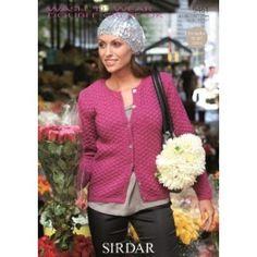 Ladies Round Neck Cardigan in Sirdar Wash N Wear Double Crepe Dk