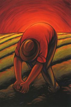 Campesino No other work gets us close to nature and reveals the greatness Of God. We can all learn a lesson or two from Campesinos whom endure great hardships and yet remain invisible. Mexican Artwork, Mexican Paintings, Mexican Folk Art, Hispanic Art, Latino Art, Mexico Art, Arte Popular, Popular Artists, Mexican Artists
