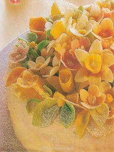 Cukrovi na Vanoce: Jarní květinový dort Happy Easter, Cantaloupe, Fruit, Food, Meal, The Fruit, Eten, Meals