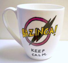 Bazinga Keep Calm The Big Bang Theory Quote Art by DreamAndCraft, $20.00