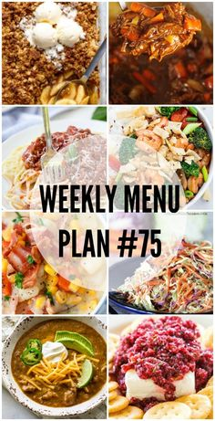 Don't know what to make for dinner? We've got you covered with easy weeknight options and a few holiday favorites in this week's Menu Plan! via (Easy Meal On A Budget Weekly Menu) Weekly Menu Planning, Family Meal Planning, Budget Meal Planning, Family Meals, Group Meals, Family Recipes, Frugal Meals, Budget Meals, Freezer Meals