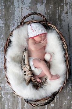Baby Baseball Crochet Hat by HookLineandStinkers on Etsy, $16.00