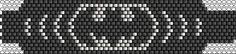 Batman beaded bracelet pattern peyote