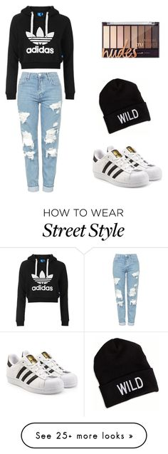 """""""Street style"""" by nfcook on Polyvore featuring Topshop, adidas Originals and American Eagle Outfitters"""