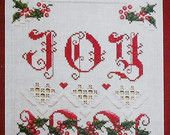 Emie Bishop HOLIDAY JOY - Counted Cross Stitch Hardanger Pattern Chart - fam