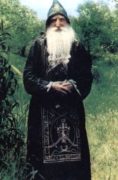 Russian holy elder Tikhon who lived in the hermitage of the Holy Cross, near Stavronikita, and who was a spiritual father of Elder Paisios.