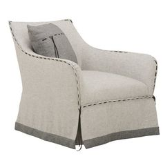 Darby Home Co Cohn Swivel Armchair Upholstery Color: Gray Swivel Barrel Chair, Papasan Chair, Swivel Armchair, Chair And Ottoman, Outdoor Dining Chair Cushions, Upholstered Dining Chairs, Dining Chair Set, Art Furniture, Living Room Furniture
