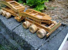 Nasburg heavy haul trailer wood model