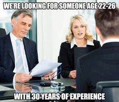 "When a job says they want someone with ""experience"":"