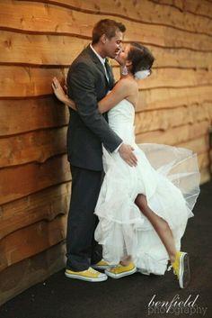 Love it#yellow#converse#wedding
