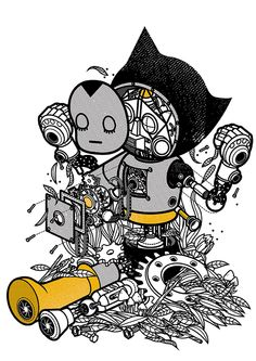 A Small Treasured Robots Origins - Abandoned Version by Stephen Chan, via Behance