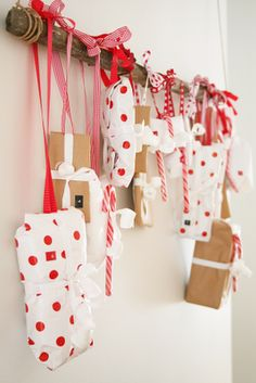Advent gift calander. #Christmas #diy #holidays