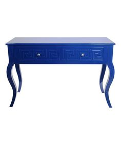 Indigo Blue Greek Key Console Table #zulilyfinds