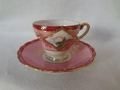 Pink Teacup and Saucer Craftsman China Japan