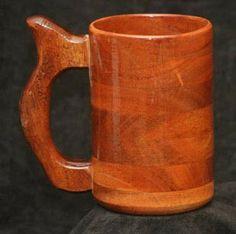 Handcrafted Wood Mug Mahogany 20 oz Wood Mug Stein Tankard