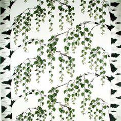 Det härliga Björkliden tyget är designat av Mialotta Arvidsson-Mars för Arvidssons Textil. Tyget är tillverkat i bomull av hög kvalitet och har ett vackert mönster med grönskande björkträd. Tyget passar utmärkt att använda som gardin men kan även användas som en stilfull bordsduk. Matcha tyget tillsammans med andra vackra textiler från Arvidssons Textil för att skapa en hemtrevlig känsla.