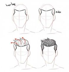 Anatomy Drawing Tutorial Discover more about drawing tips Anatomy Drawing, Guy Drawing, Manga Drawing, Drawing People, Drawing Tips, Drawing Sketches, Drawing Ideas, Drawing Male Hair, Drawing Poses Male