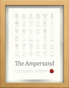 The Ampersand: poster from Ligature, Loop & Stem