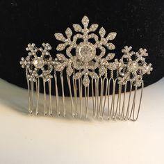 $27.91 | Winter snowflake hair comb -Wedding hair comb -  Bridal hair accessories - party headpiece.