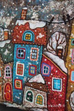 Купить или заказать Сумка 'В городе снег' в интернет-магазине на Ярмарке Мастеров. Рада представить новую сумку 'В городе снег') Несмотря на то, что сейчас прекрасная осень, это не мешает мне перенестись внутри себя в другое состояние. По-зимнему уютное. Когда снег покрывалом укрывает дома, улицы.. и наши мысли. Когда вокруг темно, валит снег и где-то тебя ждёт заветное окно, в котором горит свет:) Долго я работала над этой вещью. Но с огромным удовольствием!