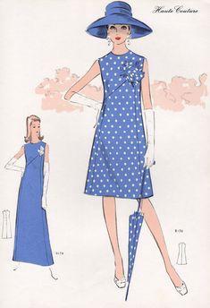 Original French 1972 Spring / Summer fashion by PrintCabinet