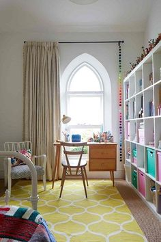 Kid's Bedroom - An artist and illustrator have converted a disused chapel into a Somerset family home - real homes on HOUSE by House & Garden