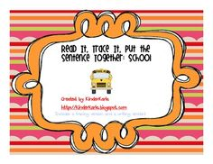 Included are several back to school themed sentences. This activity can be used as morning work or at a literacy station. Students read and trace a sentence, then cut it apart, put it back together, and illustrate the sentence!