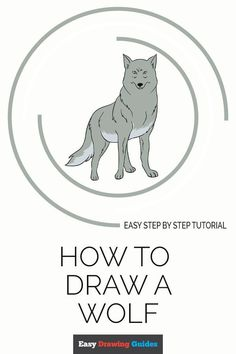 Learn How to Draw a Wolf: Easy Step-by-Step Drawing Tutorial for Kids and Beginners. #Wolf #drawingtutorial #easydrawing. See the full tutorial at… Doodle Drawings, Cartoon Drawings, Animal Drawings, Easy Drawings, Cartoon Art, Drawing Reference Poses, Drawing Tips, Drawing Ideas, Drawing Tutorials For Beginners