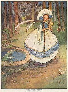 The Frog Prince (LeRoi Grenouille) - illustration de Mabel Lucie Attwell