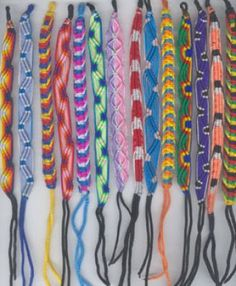 Heart friendship bracelets.