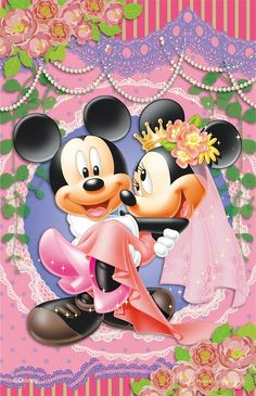 Every kit gives you a chance to create a work of art you can be proud of. This diamond painting kit Mickey And Minnie Wedding, Mickey And Minnie Love, Mickey Mouse Art, Mickey Mouse Wallpaper, Walt Disney Mickey Mouse, Mickey Mouse And Friends, Disney Wallpaper, Images Disney, Disney Pictures
