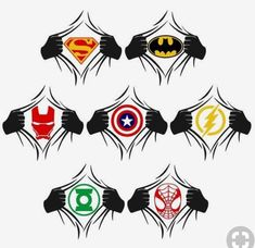 Super Hero SVG Cuttable Designs Captain America, Thor, Hulk and more Inspired Themes Silhouette Vinyl, Silhouette Machine, Silhouette Projects, Silhouette Design, Silhouette Portrait, Silhouette Cameo Disney, Superhero Silhouette, Cricut Air, Cricut Vinyl