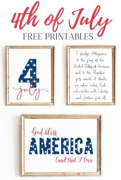 Freebie of July Patriotic Printable Home Decor Little Blonde Mom Floating Paper Lanterns, And Justice For All, 4th Of July Decorations, July Crafts, God Bless America, Veterans Day, Decorating Blogs, Independence Day, Fourth Of July