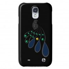 Carcasa Trexta Galaxy S4 - Snap on Cover Crystal Peacock Negra  AR$ 115,64