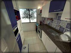1- cozinha azul e branca azulejo portugues