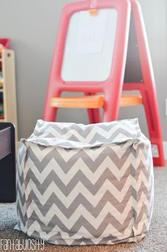 Ottomans Playroom design and decor ideas, Part 5 of Home Tour http://fantabulosity.com