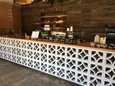 Love this breeze block counter in the new Leaf and Grain cafe, Byron Bay