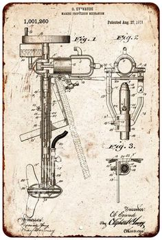 Evinrud Outboard Motor Patent 1911 Vintage Reproduction Sign 8x12 8122816