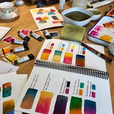 """739 Likes, 16 Comments - Brenda Swenson (@brenda_swenson) on Instagram: """"I've been playing with six new paints by Daniel Smith Watercolors. I admit it...I'm a real geek…"""""""