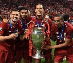 Ynwa Liverpool, Liverpool Players, Liverpool Football Club, Van Djik, Liverpool Fc Wallpaper, Virgil Van Dijk, Sports Graphic Design, European Cup, You'll Never Walk Alone